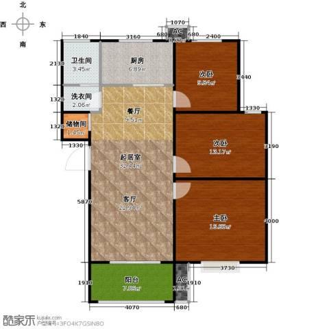 盛世景园3室0厅1卫1厨102.00㎡户型图