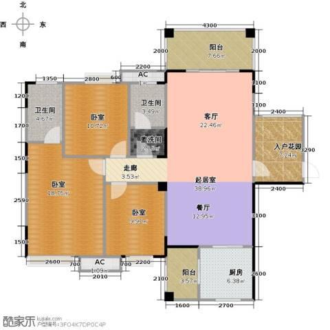 金印豪庭2卫1厨136.00㎡户型图