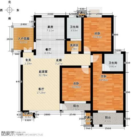 英伦花园3室0厅2卫1厨134.00㎡户型图