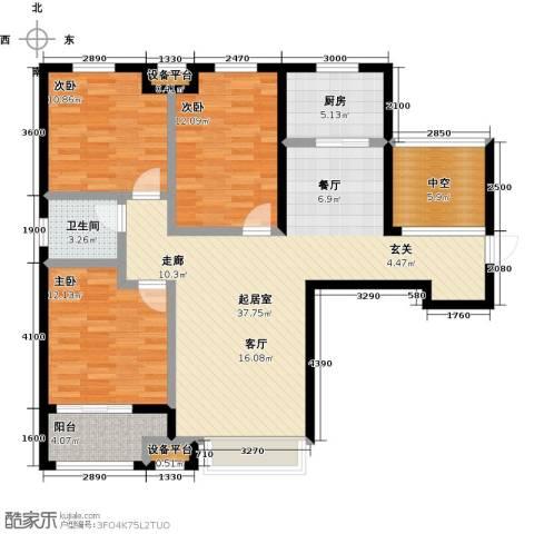 柠檬郡3室0厅1卫1厨134.00㎡户型图