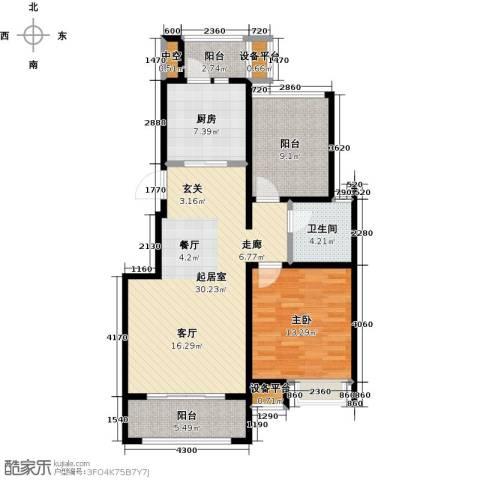 苏公馆1室0厅1卫1厨85.00㎡户型图