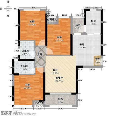 海伦印象3室1厅2卫1厨114.00㎡户型图