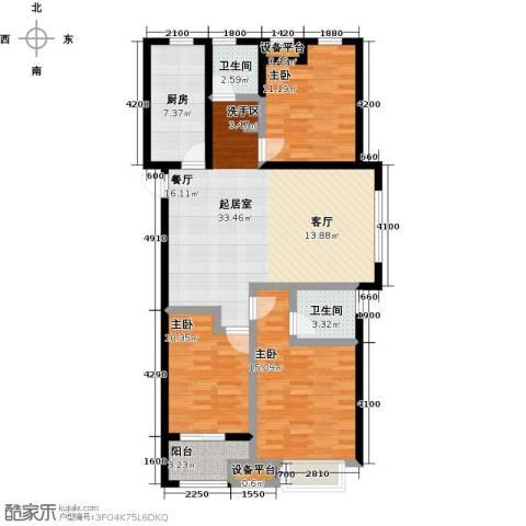 柠檬郡3室0厅2卫1厨128.00㎡户型图