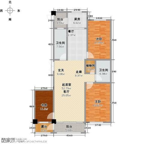 聚隆城尚城3室0厅2卫1厨153.00㎡户型图