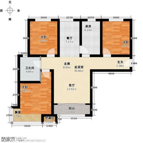 松石国际城3室0厅1卫1厨111.00㎡户型图