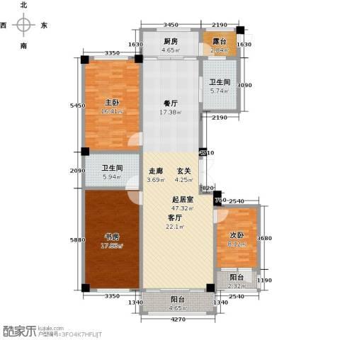 聚隆城尚城3室0厅2卫1厨162.00㎡户型图