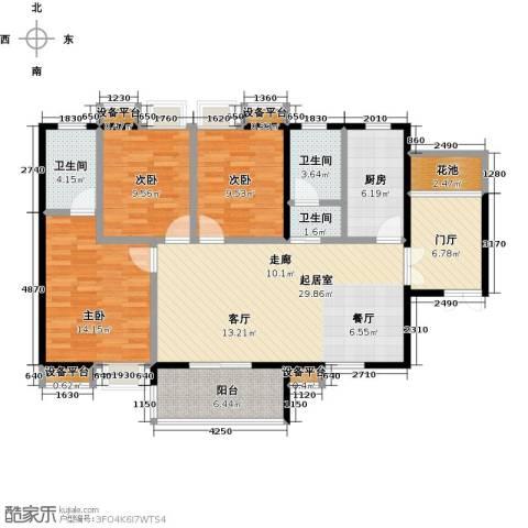 银泉名座3室0厅3卫1厨110.71㎡户型图