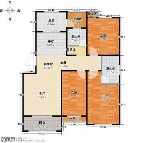 临沂未来城3室1厅2卫1厨140.00㎡户型图