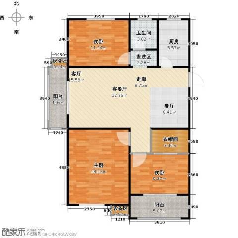 临沂未来城3室1厅1卫1厨127.00㎡户型图