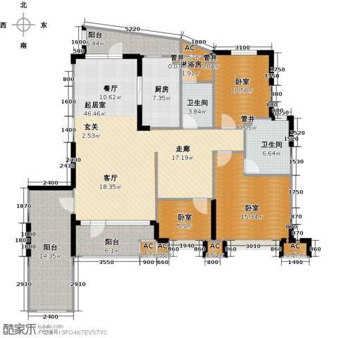 沈阳雅居乐花园2卫1厨155.00㎡户型图