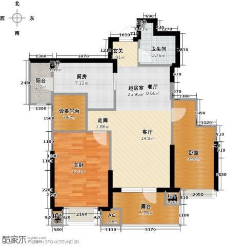沈阳雅居乐花园1室0厅1卫1厨93.00㎡户型图