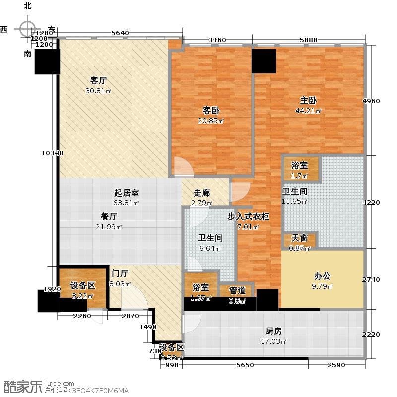 环球188172.00㎡C4户型 3室2厅2卫户型3室2厅2卫