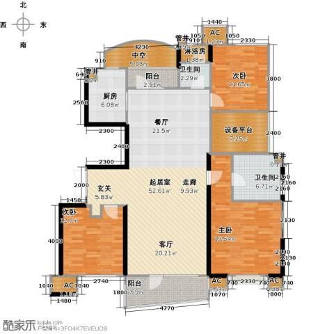 沈阳雅居乐花园3室0厅2卫1厨154.00㎡户型图