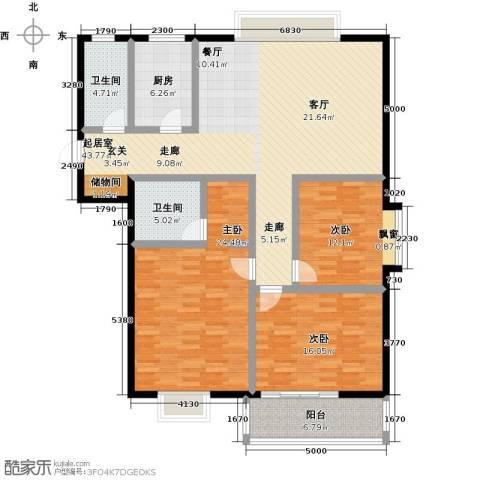 中富阳光景苑3室0厅2卫1厨170.00㎡户型图
