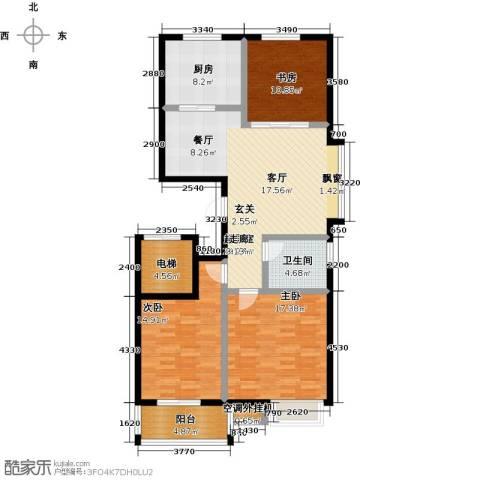 中富阳光景苑3室0厅1卫1厨138.00㎡户型图