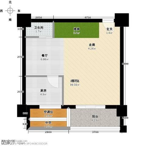 亚华桂竹花园1卫1厨125.00㎡户型图