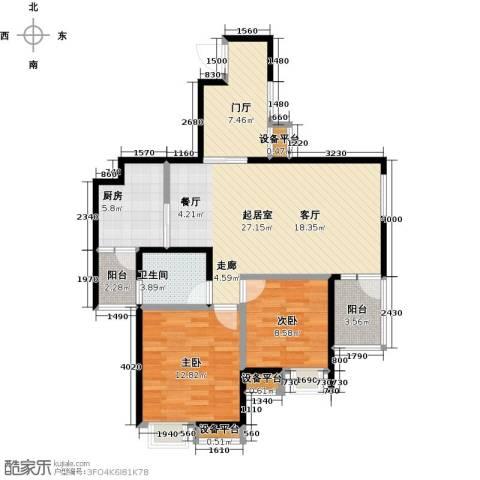 银泉名座2室0厅1卫1厨84.00㎡户型图