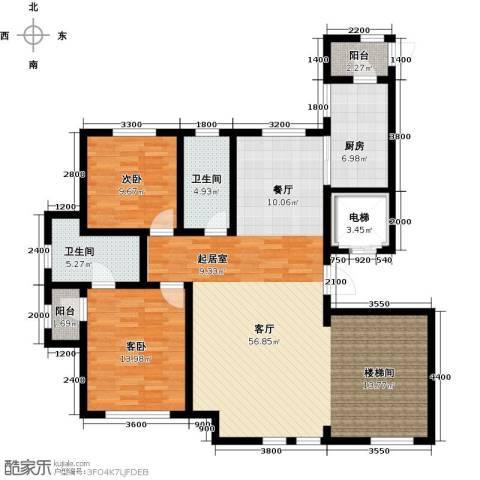 水韵豪庭2室1厅2卫1厨200.00㎡户型图