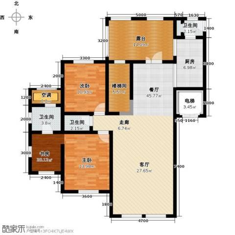 水韵豪庭2室1厅3卫1厨169.00㎡户型图