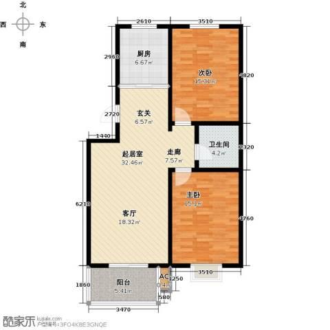 钢苑新区2室0厅1卫1厨111.00㎡户型图
