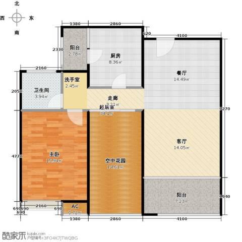 德州华嬉盛世1室0厅1卫1厨118.00㎡户型图