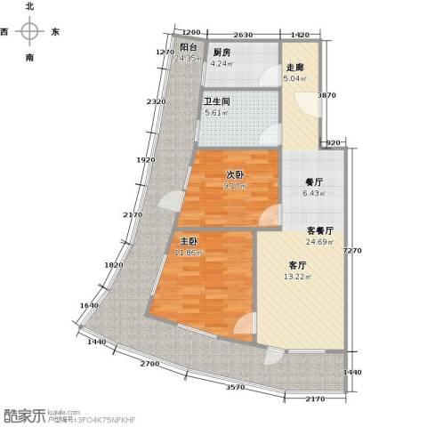 海天翼2室1厅1卫1厨108.00㎡户型图