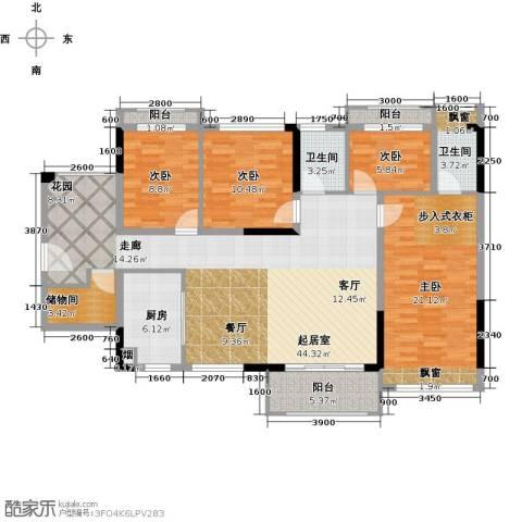 汇乔金色名都4室0厅2卫1厨139.00㎡户型图
