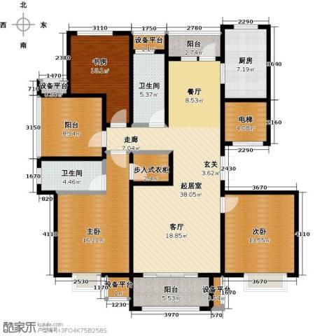 苏公馆3室0厅2卫1厨140.00㎡户型图