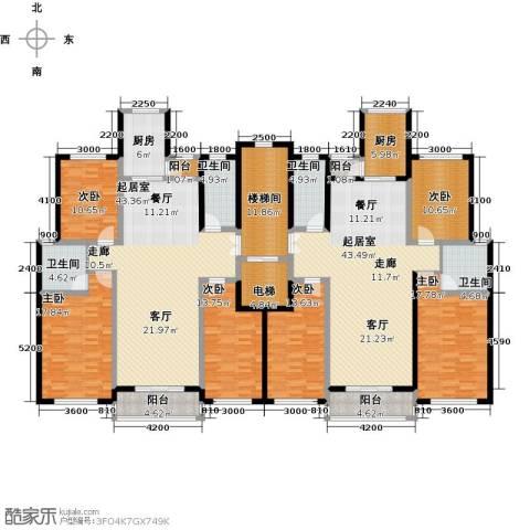 香江东湖印象6室0厅4卫2厨230.38㎡户型图