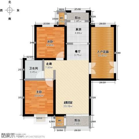 首开・国风海岸2室0厅1卫1厨105.00㎡户型图