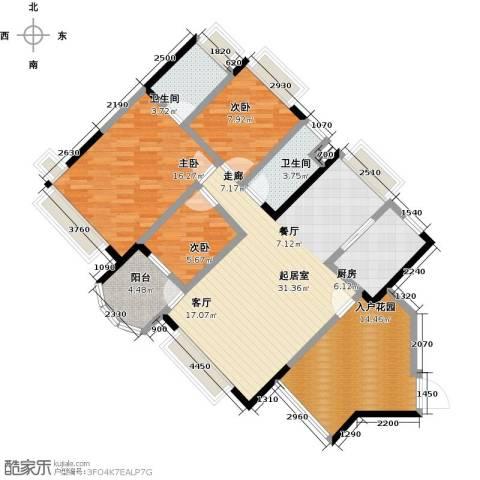 中澳春城3室0厅2卫1厨106.00㎡户型图