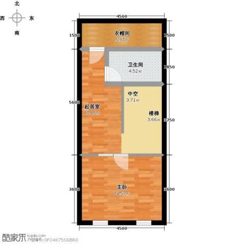 汇雄时代1室0厅1卫0厨60.00㎡户型图