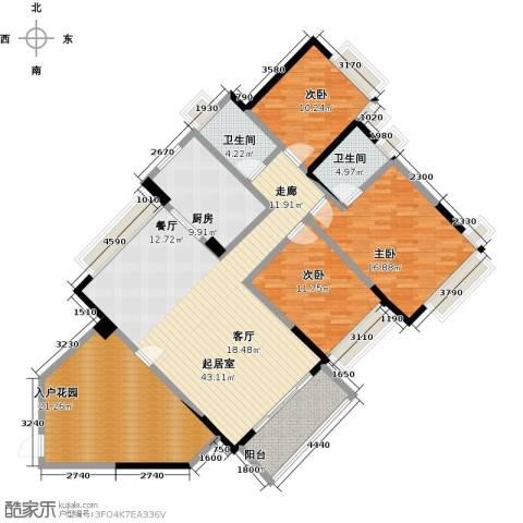 中澳春城3室0厅2卫1厨142.73㎡户型图