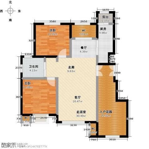 首开・国风海岸2室0厅1卫1厨118.00㎡户型图