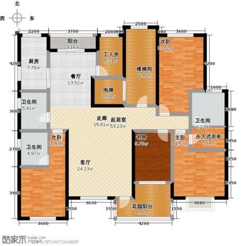 香江东湖印象4室0厅3卫1厨210.00㎡户型图