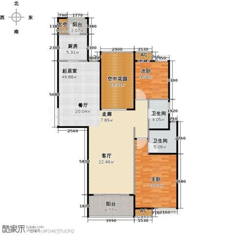 德州华嬉盛世2室0厅2卫1厨156.00㎡户型图