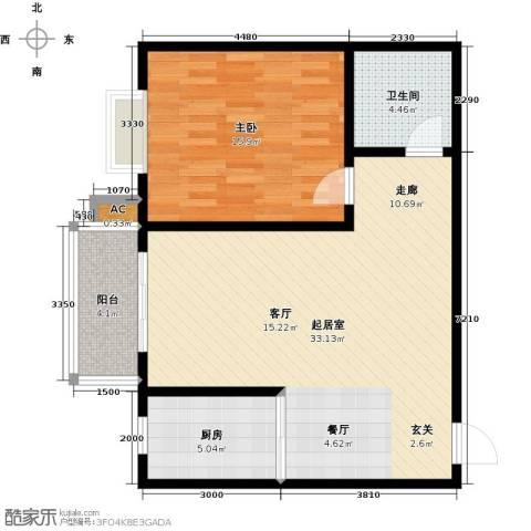 钢苑新区1室0厅1卫1厨88.00㎡户型图