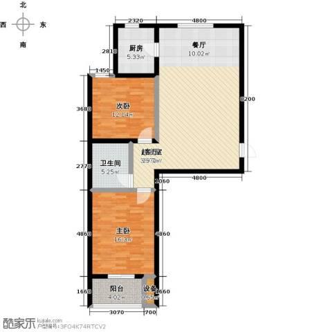悦水澜庭2室0厅1卫1厨94.00㎡户型图
