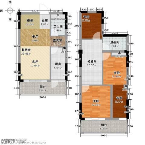 汇乔金色名都3室0厅2卫1厨105.00㎡户型图