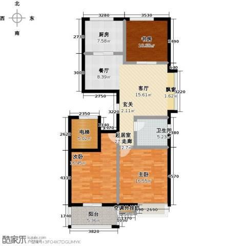 中富阳光景苑3室0厅1卫1厨137.00㎡户型图
