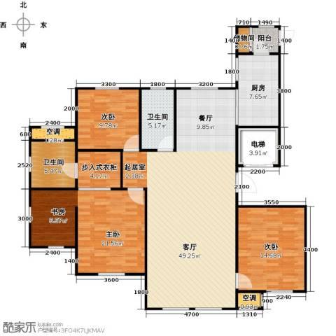 水韵豪庭3室1厅2卫1厨138.00㎡户型图