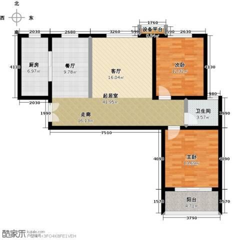 锦绣江南2室0厅1卫1厨120.00㎡户型图