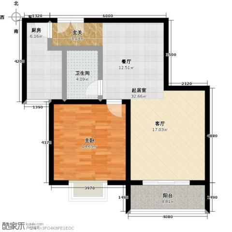 锦绣江南1室0厅1卫1厨90.00㎡户型图
