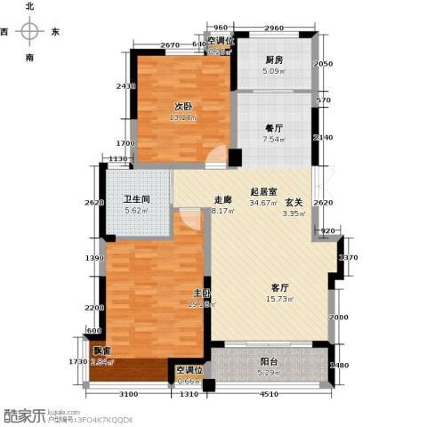 渤海之星2室0厅1卫1厨96.00㎡户型图