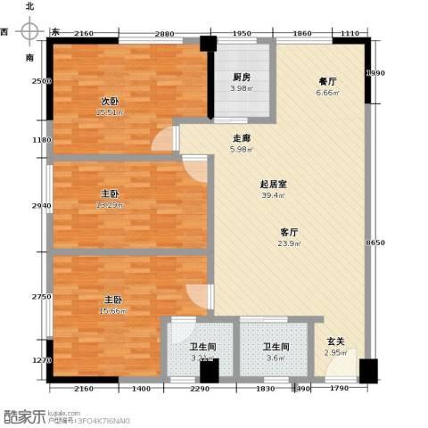东山康城3室0厅2卫1厨106.00㎡户型图