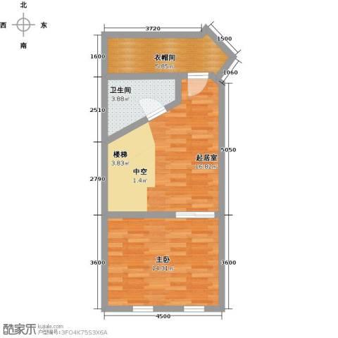 汇雄时代1室0厅1卫0厨59.00㎡户型图