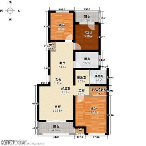 临沂魅力之城3室0厅1卫1厨120.00㎡户型图