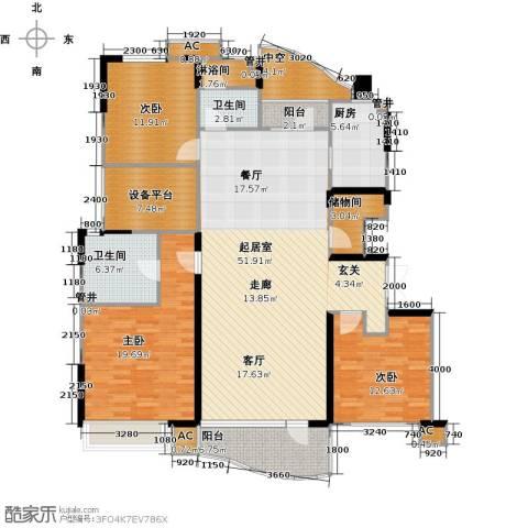 沈阳雅居乐花园3室0厅2卫1厨155.00㎡户型图