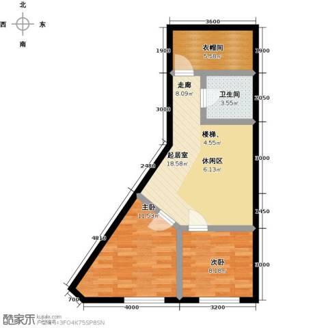 汇雄时代2室0厅1卫0厨69.00㎡户型图