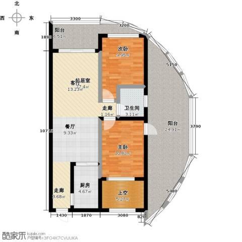 东方・山海湾2室0厅1卫1厨92.64㎡户型图